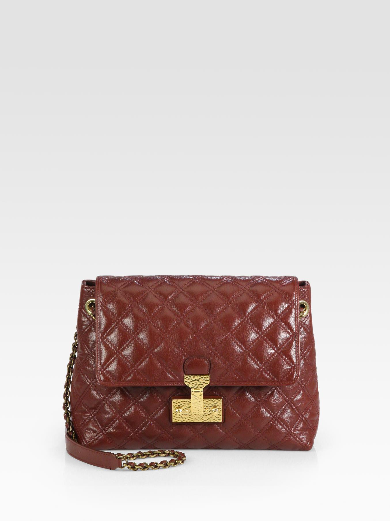 044eefc42392 Lyst - Marc Jacobs Baroque Xl Single Quilted Shoulder Bag in Brown
