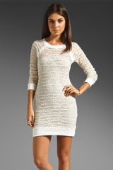 Nightcap Lace Raglan Dress in Creamneutrals - Lyst