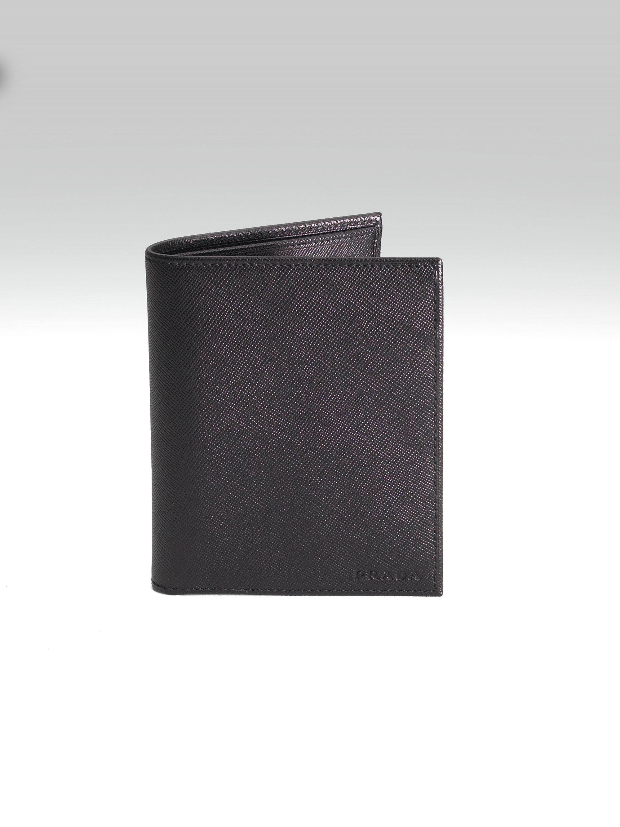 991cb20a0e0c Lyst - Prada Breast Pocket Wallet in Black
