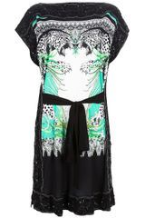 Roberto Cavalli Beaded Shift Dress - Lyst