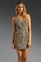 Rory Beca Bare Twisted Strap Dress in Tananimal Print - Lyst