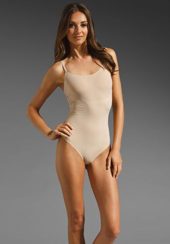 Spanx Trust Your Thinstincts Thong Bodysuit in Natural - Lyst