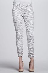 7 For All Mankind Photoembellished Slim Cigarette Jeans - Lyst