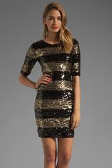 BCBGMAXAZRIA Striped Sequin Dress in Blackstripes - Lyst