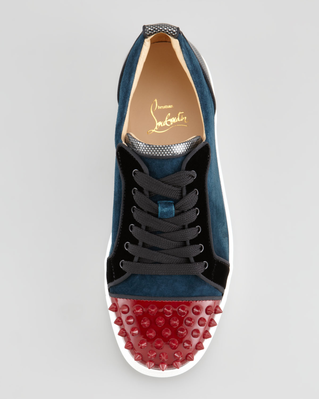 f4fc7b07f2d6 Lyst - Christian Louboutin Louis Junior Spikes Low-top Sneaker in ...