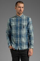Diesel Schippy Button Down in Denim - Lyst