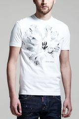 DSquared2 Relaxed Fit Shortsleeve Tee White - Lyst