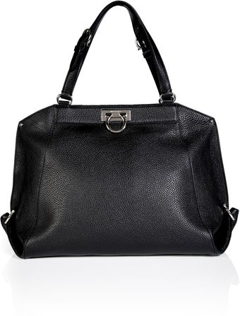 Ferragamo Leather Angy Tote in Black - Lyst