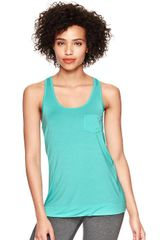 Gap Pure Body Racer Tank - Lyst