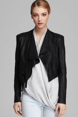 Helmut Lang Helmut Jacket Washed Leather Cropped - Lyst