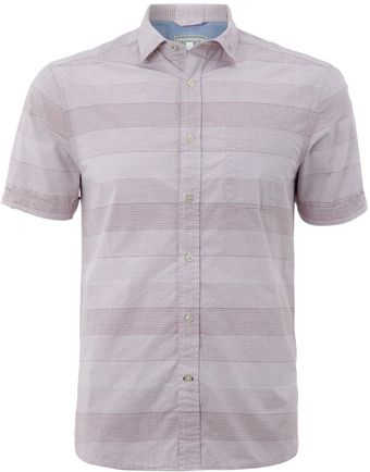 Howick Short Sleeved Striped Shirt - Lyst