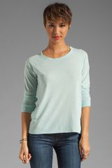 James Perse Soft Baseball Tee in Ocean Spray - Lyst