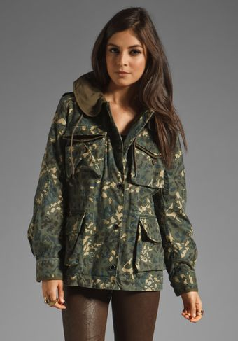 Marc By Marc Jacobs Resort Forks Parka in Forest Night Multi - Lyst