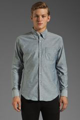 Naked & Famous Regular Shirt 5 Oz in Blue Chambraymulticolor Neps - Lyst