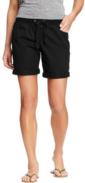 Old Navy Twill Drawstring Bermudas  - Lyst