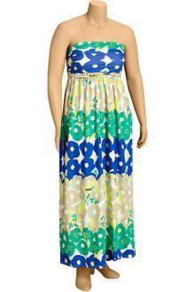 Navy Blue Maxi Dress on Old Navy Printed Keyhole Maxi Dress In Multicolor  White    Lyst