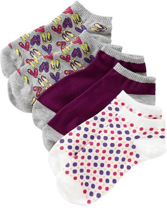 Old Navy Printed Liner Sock 3 Packs - Lyst