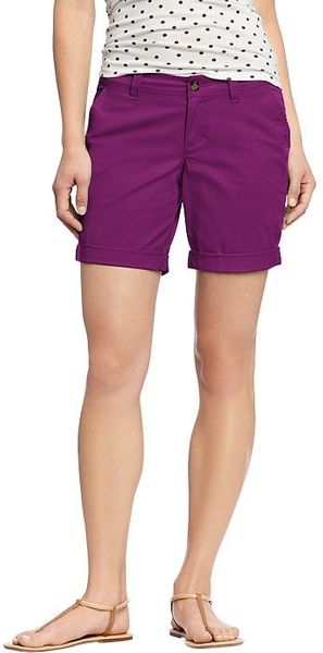 Old Navy Cuffed Twill Bermudas  - Lyst