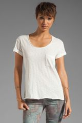 Rag & Bone The Pocket Tee in Bright White - Lyst