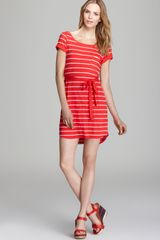 Splendid Dress Striped Pocket Tie Waist - Lyst