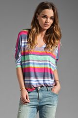Splendid Pensacola Stripe Tee in Dewberry - Lyst