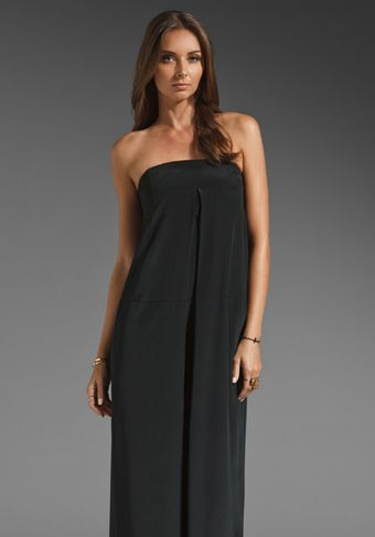 Tibi Mila Silk Jumpsuit in Blackplum Multi - Lyst