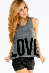 Tobi Faded Love Tank Top - Lyst