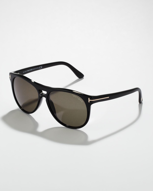 b69a742dc20 Lyst - Tom Ford Callum Acetate Square Sunglasses Shiny Black in ...