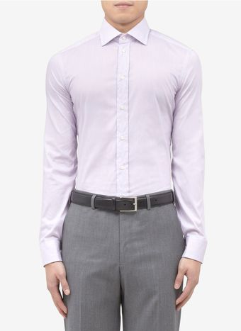 Armani Slim Fit Cotton Blend Shirt - Lyst