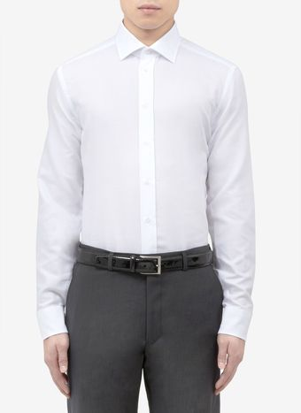 Armani Slimfit Cotton Shirt - Lyst