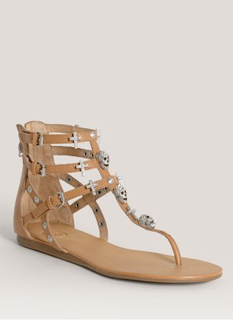Ash Odyssee Studded strap Leather Sandals - Lyst
