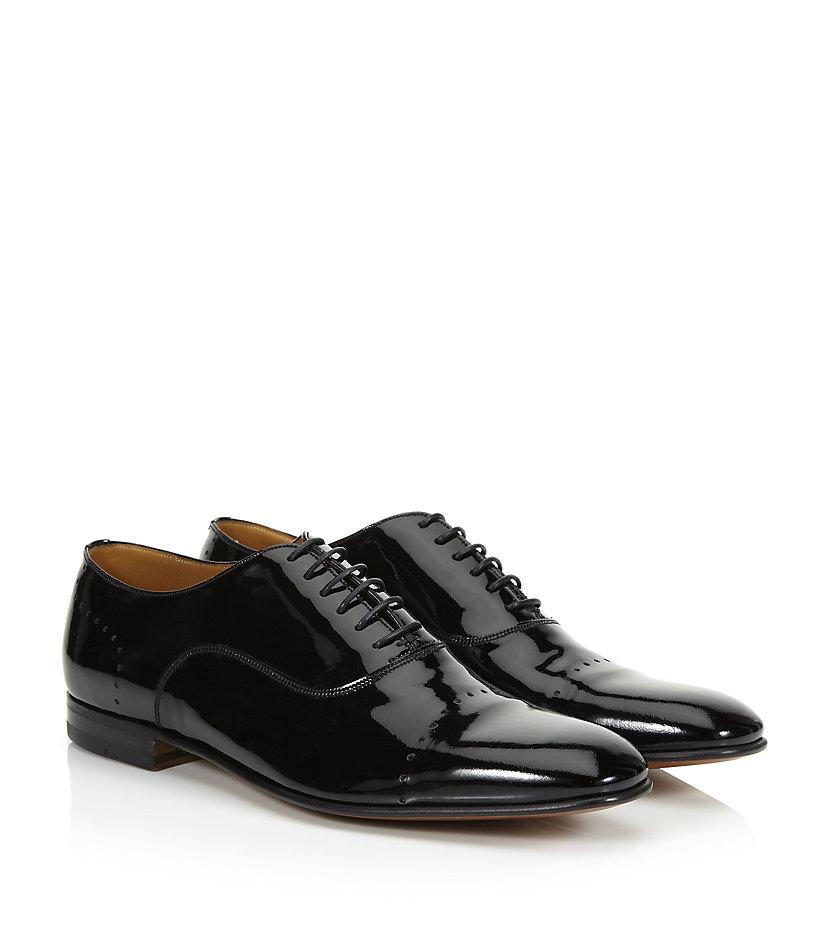 bally licio patent oxford shoe in black for lyst