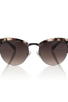 Bottega Veneta Cat Eye Tortoiseshell Sunglasses - Lyst