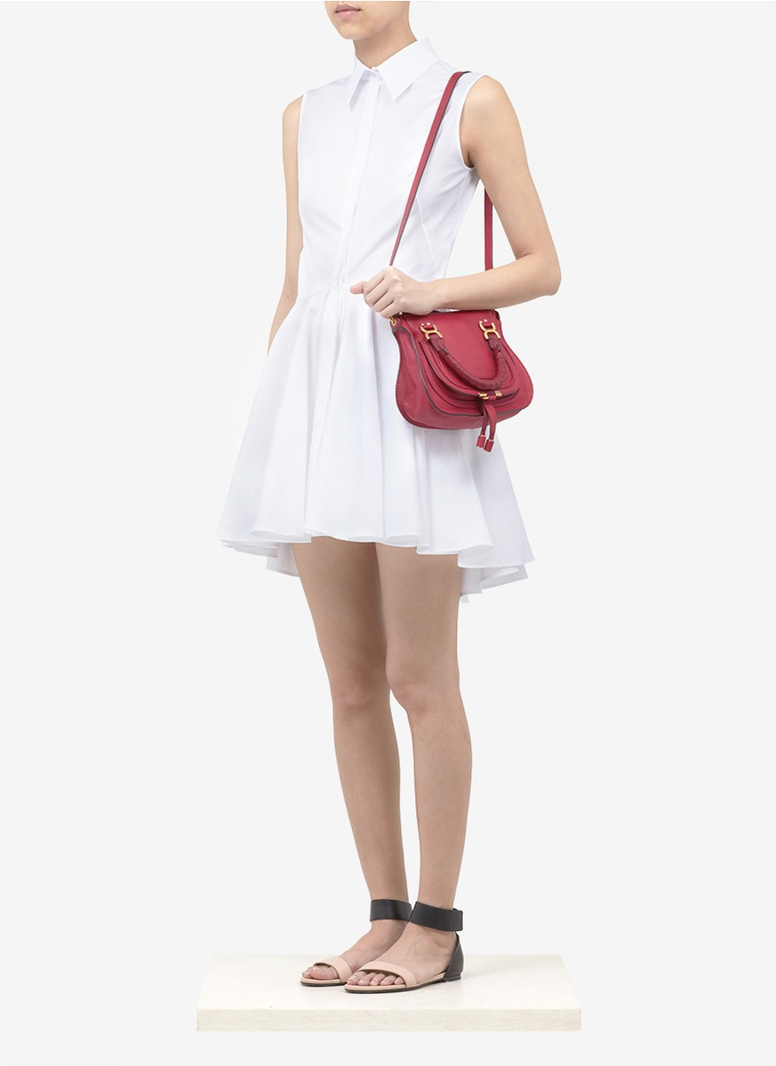 7ea92c20e3 Chloé Marcie Mini Cross-body Bag in Red - Lyst