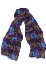 Christopher Kane Floralprint Modal and Cashmereblend Scarf - Lyst