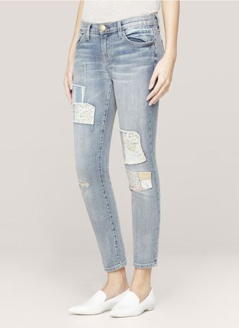 Current/Elliott Printed patchwork Skinny Jeans - Lyst