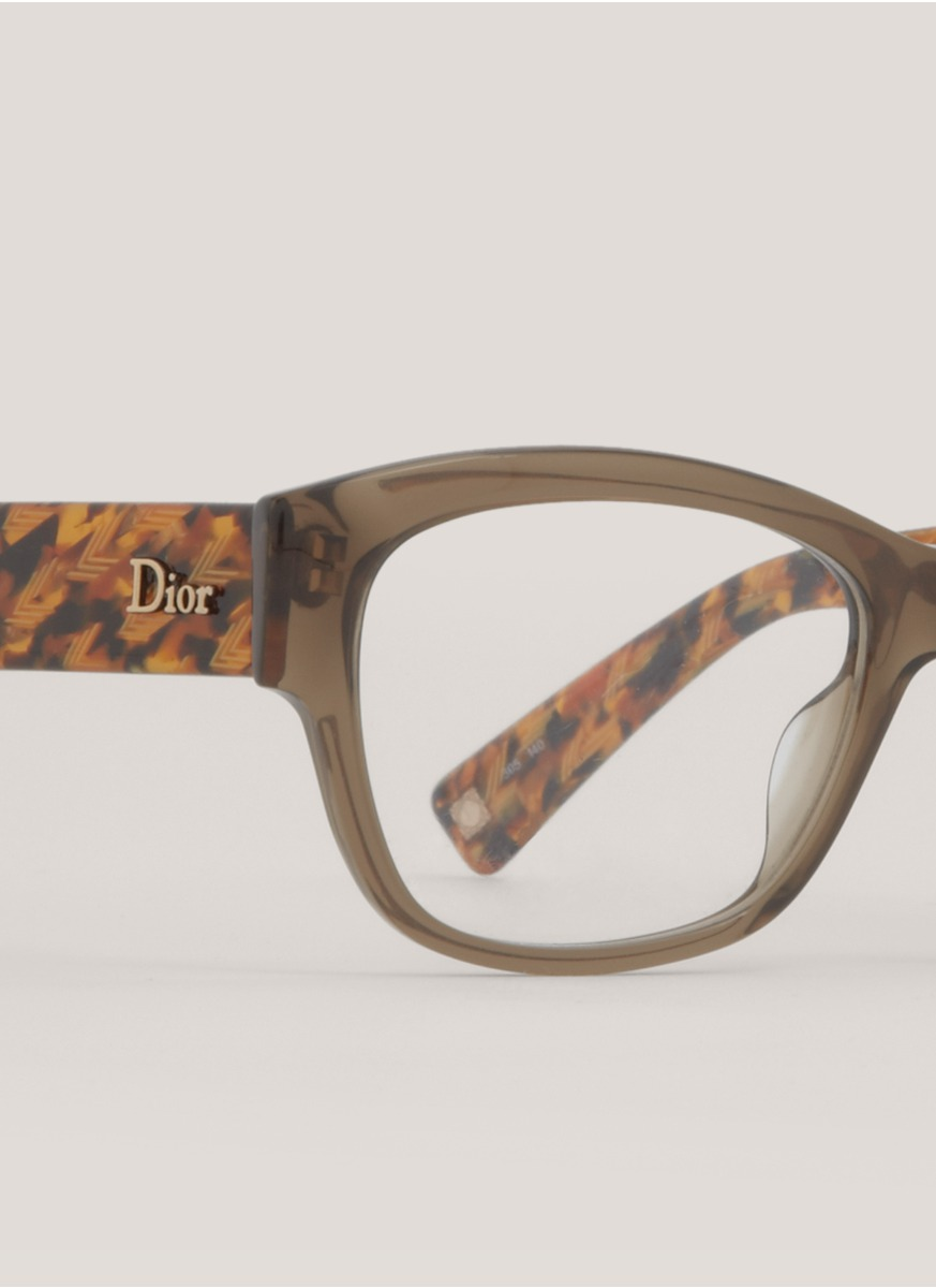 Dior Square-frame Glasses in Brown Lyst