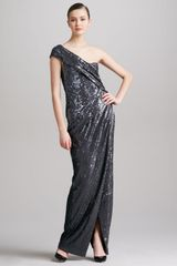 Donna Karan New York Sequined Oneshoulder Gown - Lyst