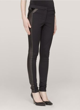 Elizabeth And James Clive Leathertrim Skinny Pants - Lyst
