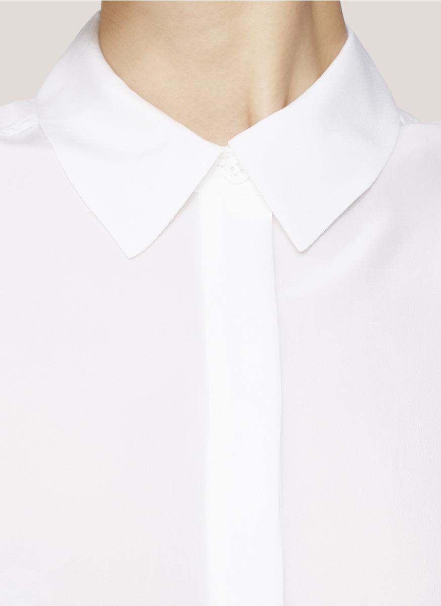 Equipment Sleeveless Collared Shirt In White Lyst