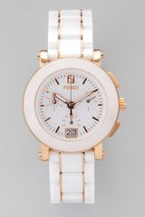 Fendi Ceramic Yellow Goldplated Round Watch - Lyst
