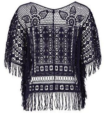 French Connection Lacey Delight Crochet Top - Lyst