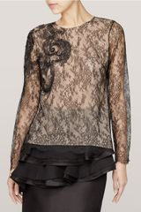 Jason Wu Embroidered Florallace Top