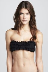 Juicy Couture Prima Donna Ruffled Bandeau Bikini Top - Lyst