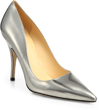 Kate Spade Licorice Metallic Leather Pumps - Lyst