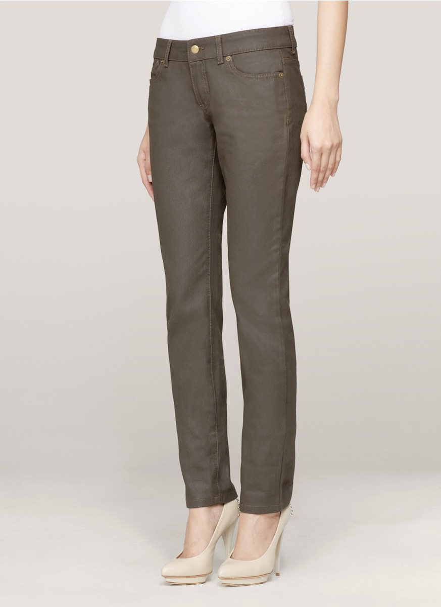 Mcq Embroidered Backpocket Jeans In Blue  Lyst