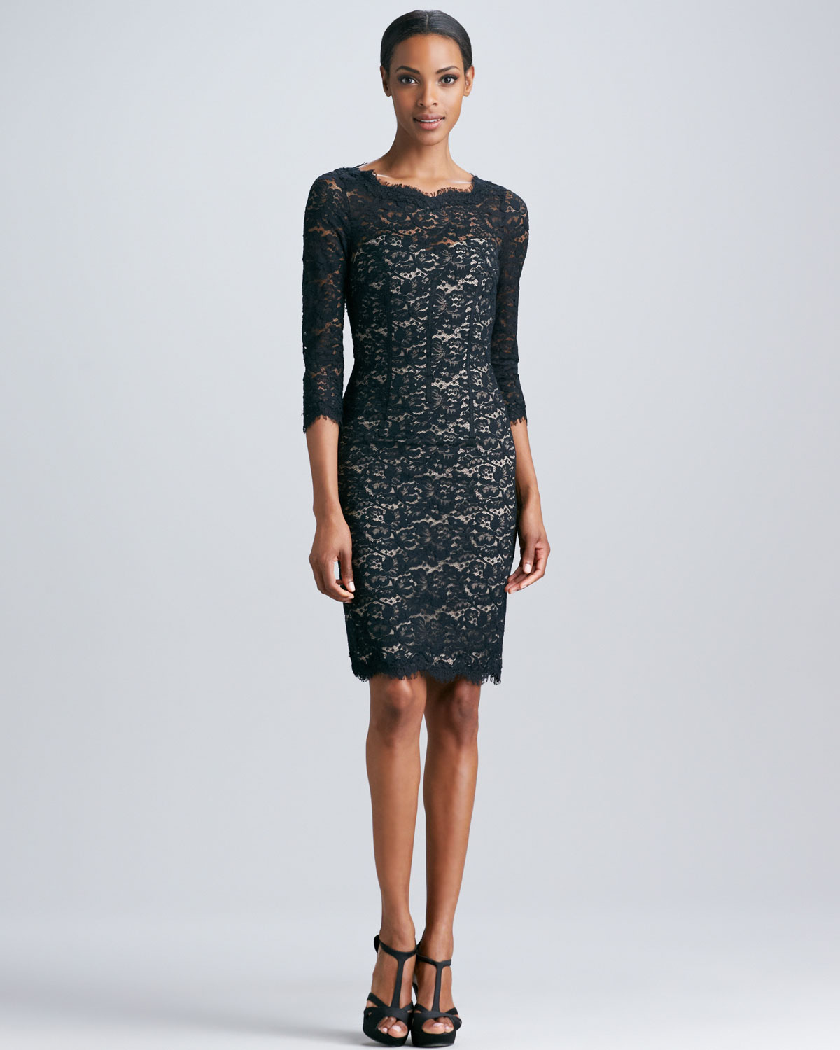 Watch - Back open lace cocktail dress video