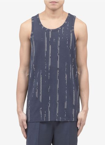 Neil Barrett Striped Cotton Pique Tank Top - Lyst