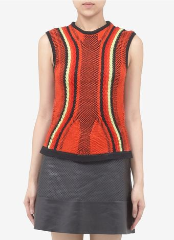 Peter Pilotto R Cotton Knitted Tank Top - Lyst
