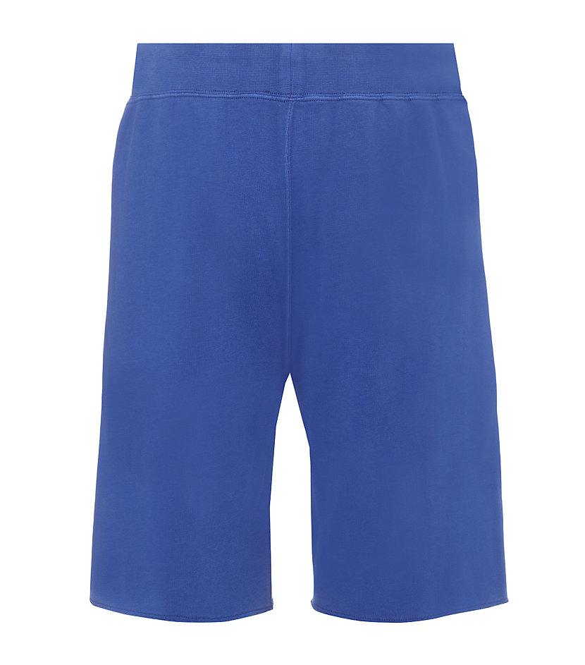 polo ralph lauren seasonal fleece short in blue for men lyst. Black Bedroom Furniture Sets. Home Design Ideas